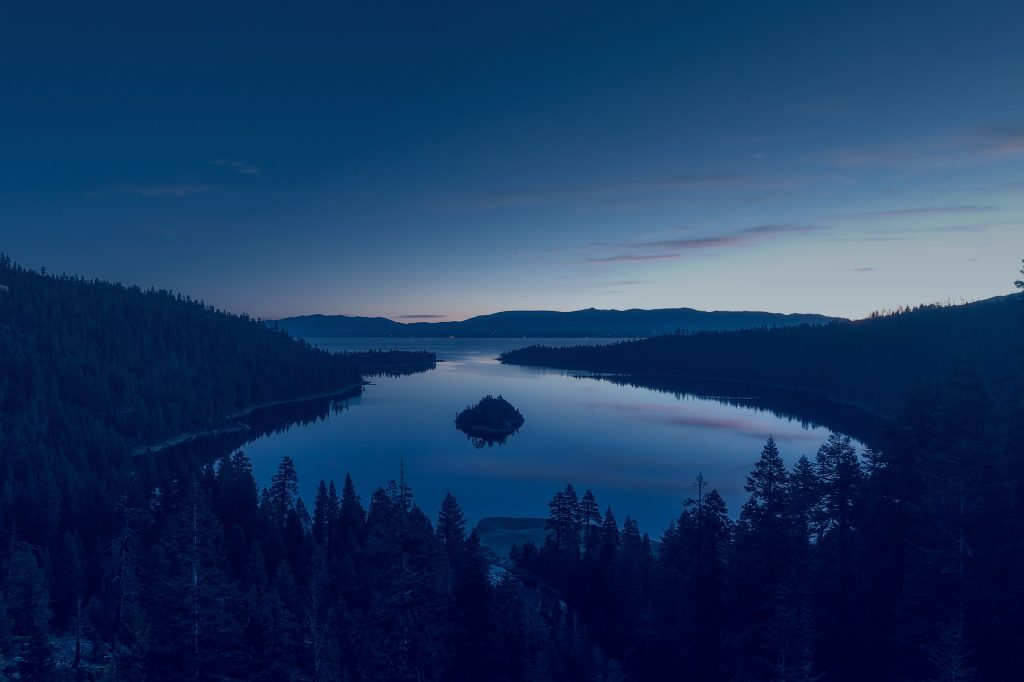 Lake in the night